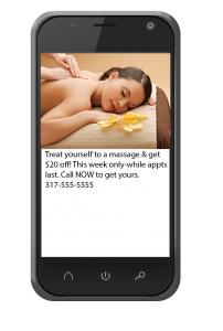Phone with Text Offer for Salon